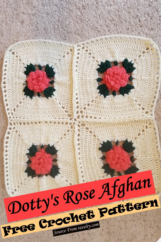 Free Crochet Dotty's Rose Afghan Pattern