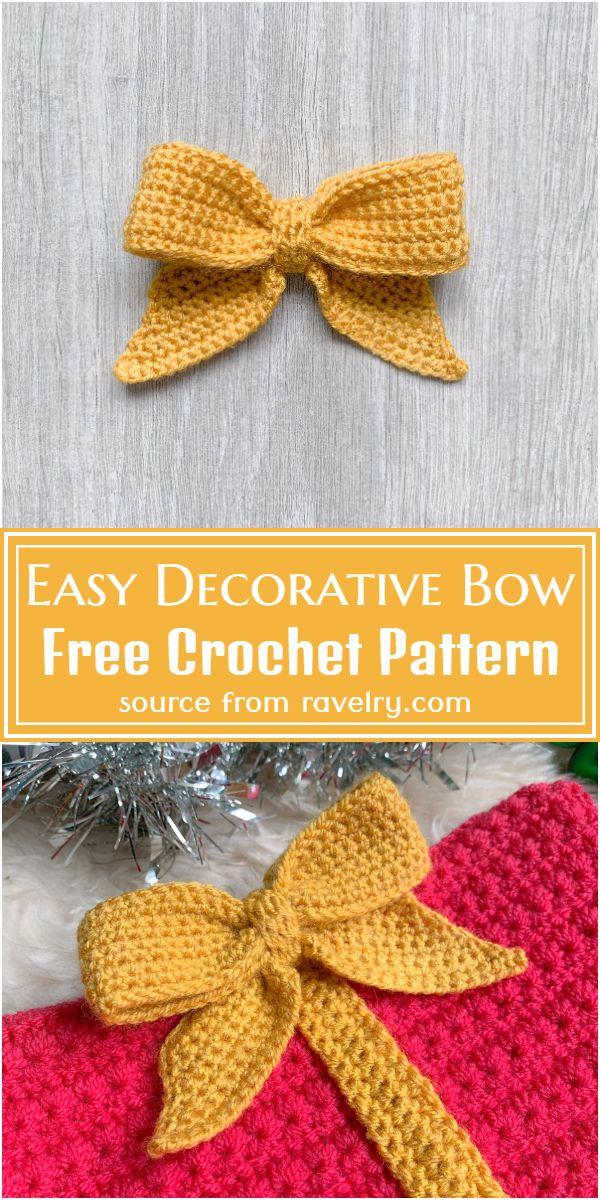 Free Crochet Easy Decorative Bow Pattern