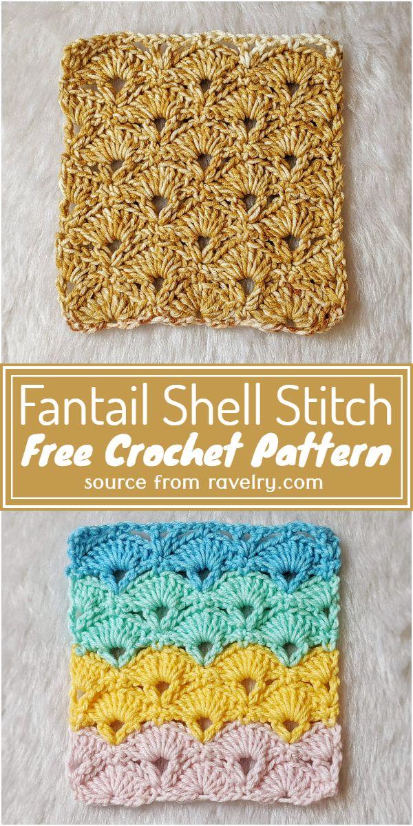 Free Crochet Fantail Shell Stitch Pattern