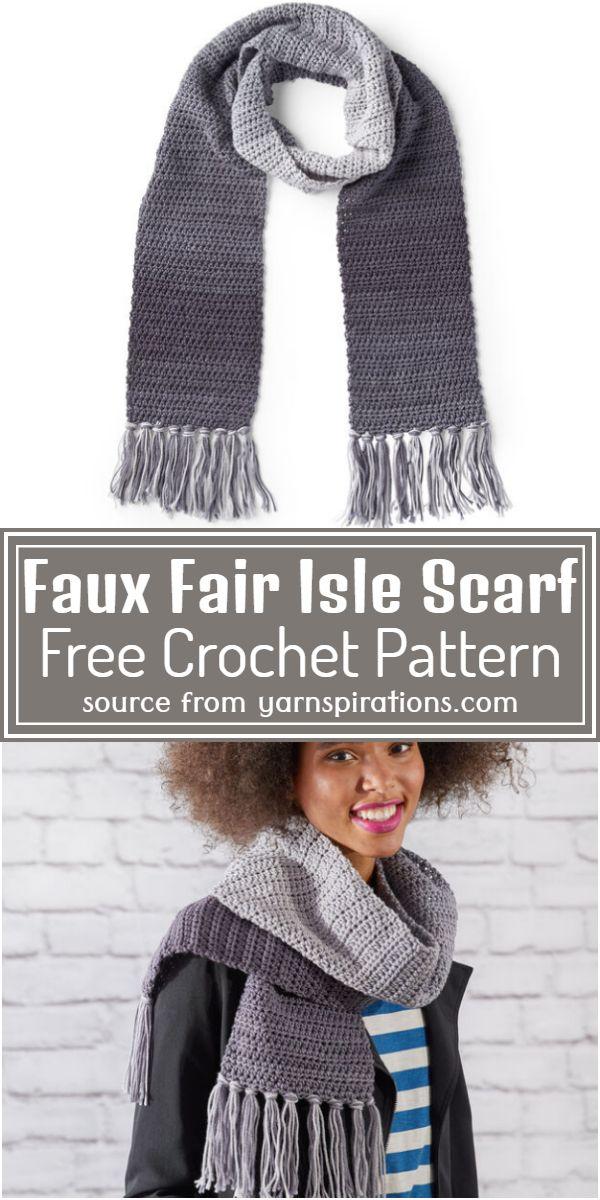 Free Fair Isle Scarf Pattern