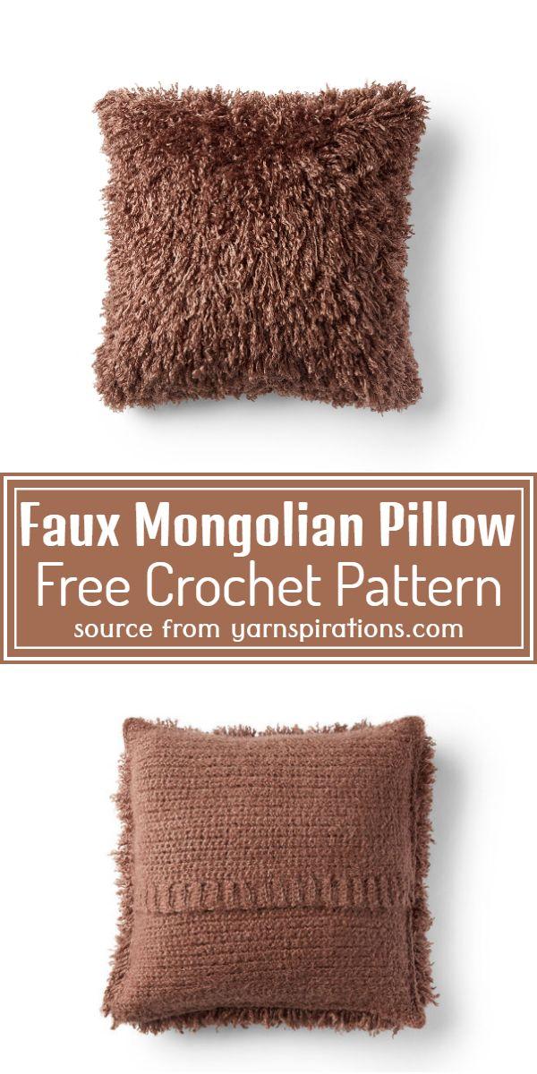 Free  Mongolian Pillow Pattern