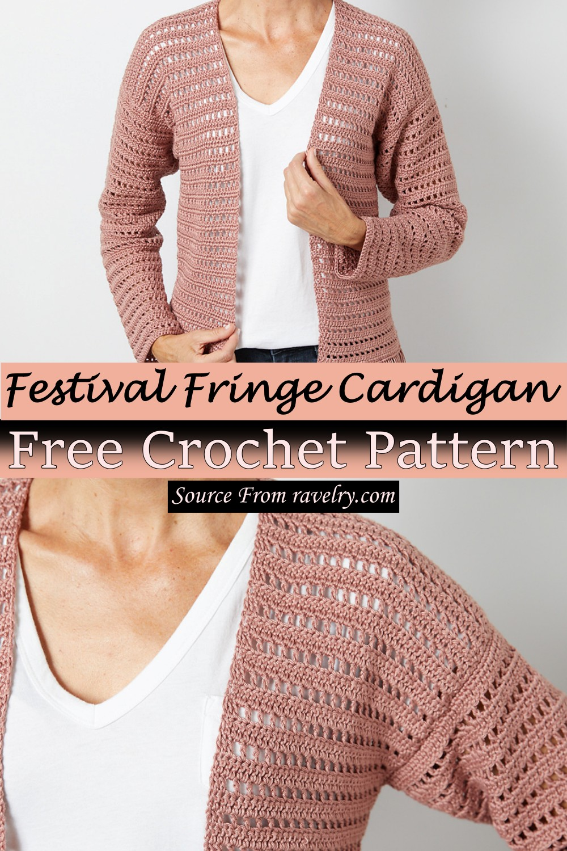 Free Crochet Festival Fringe Cardigan Pattern