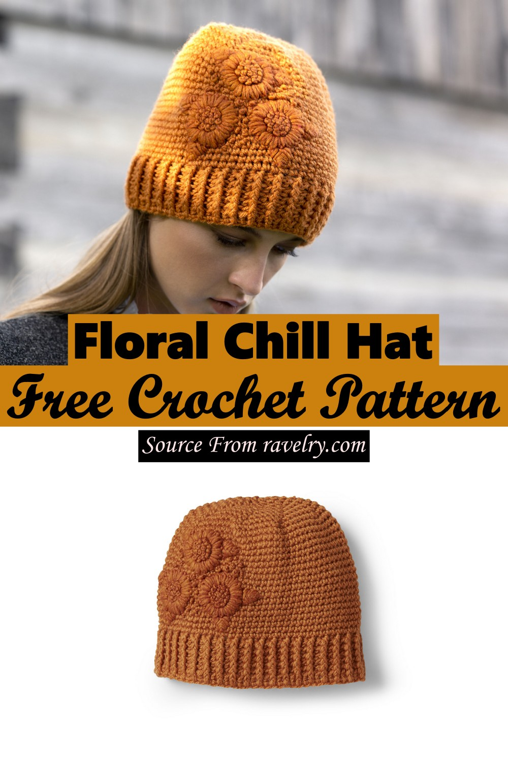 Free Crochet Floral Chill Hat Pattern