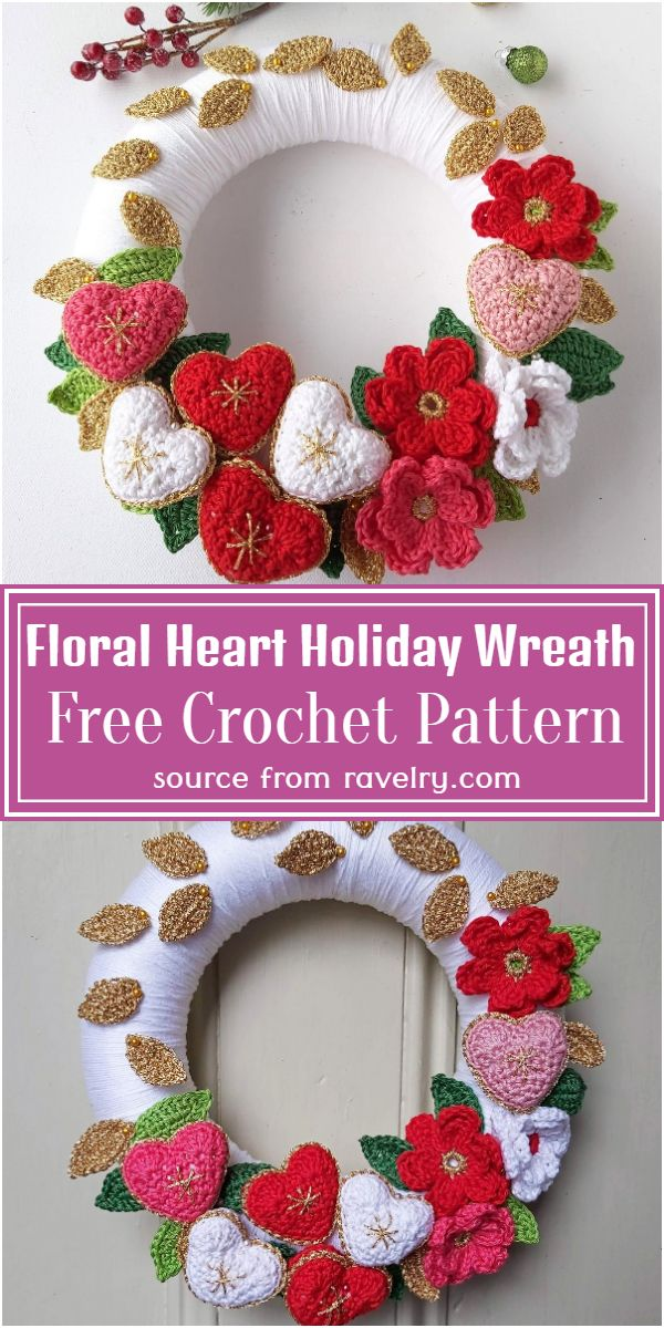 Free Floral Heart Holiday Pattern