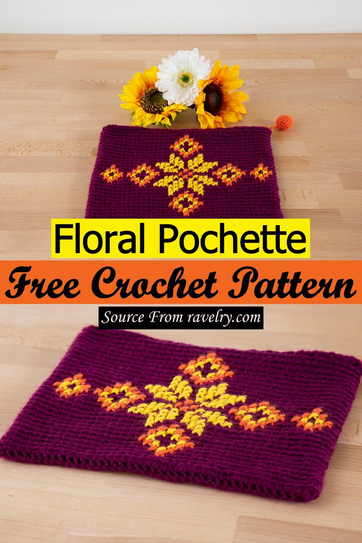 Free Crochet Floral Pochette Pattern