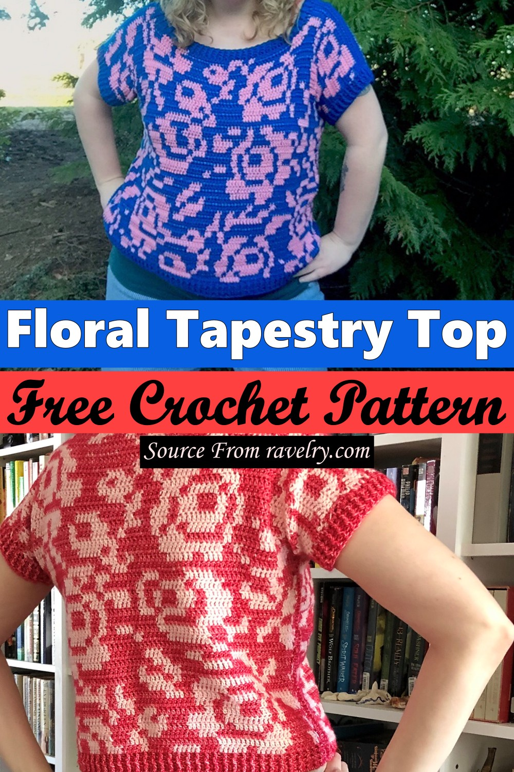 Free Crochet Floral Tapestry Top Pattern