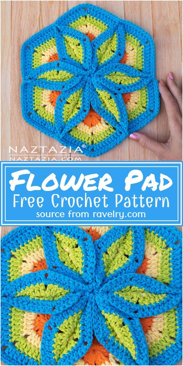 Free Crochet Flower Pad Pattern