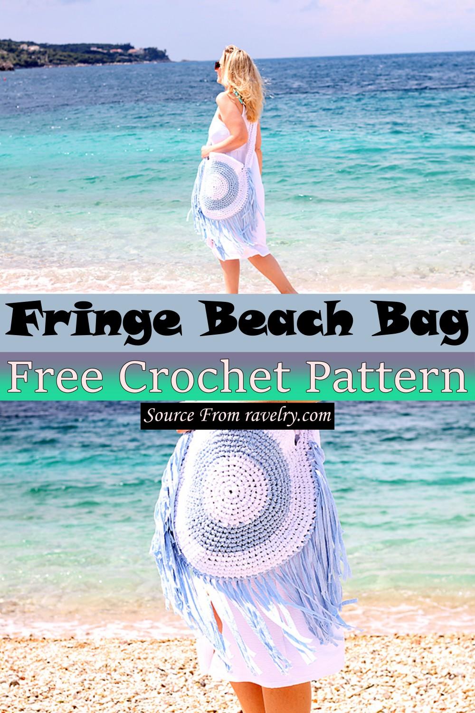 Free Crochet Fringe Beach Bag Pattern