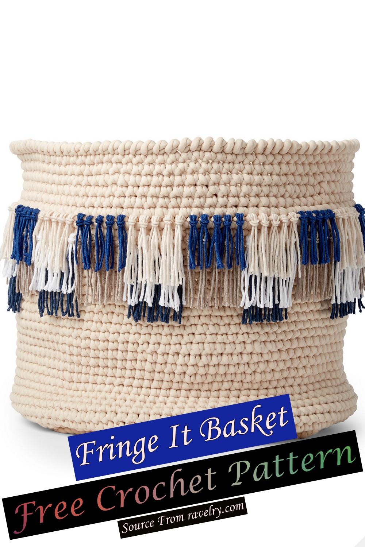 Free Crochet Fringe It Basket Pattern