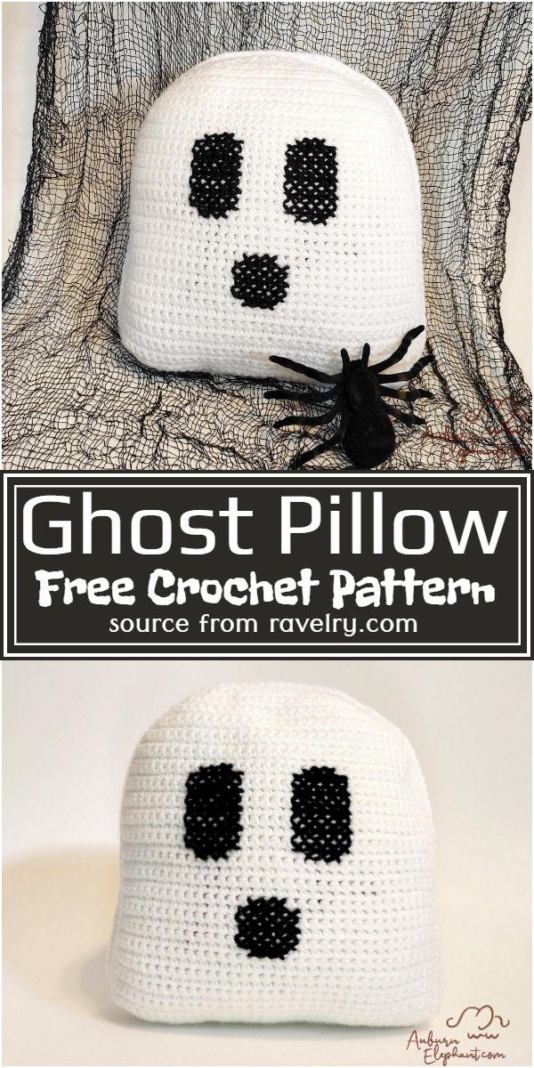Free Crochet Ghost Pillow Pattern