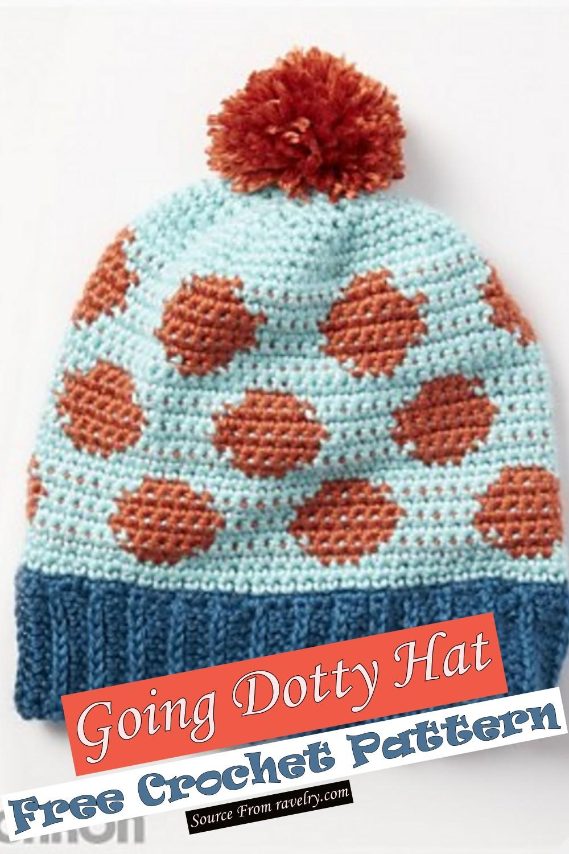 Free Crochet Going Dotty Hat Pattern