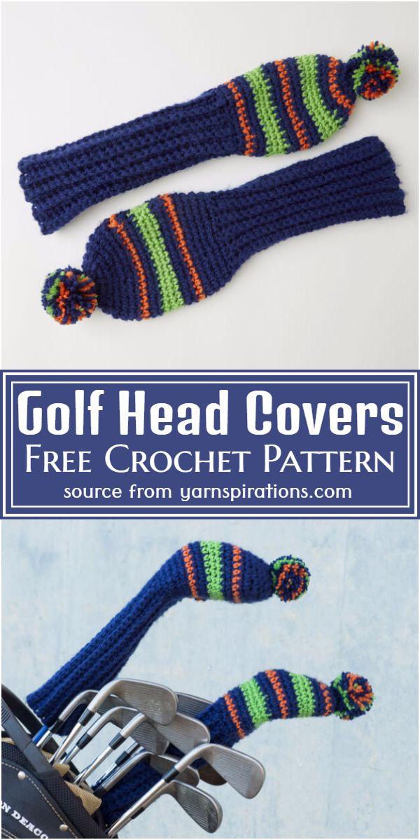 Free Crochet Golf Head Covers Pattern
