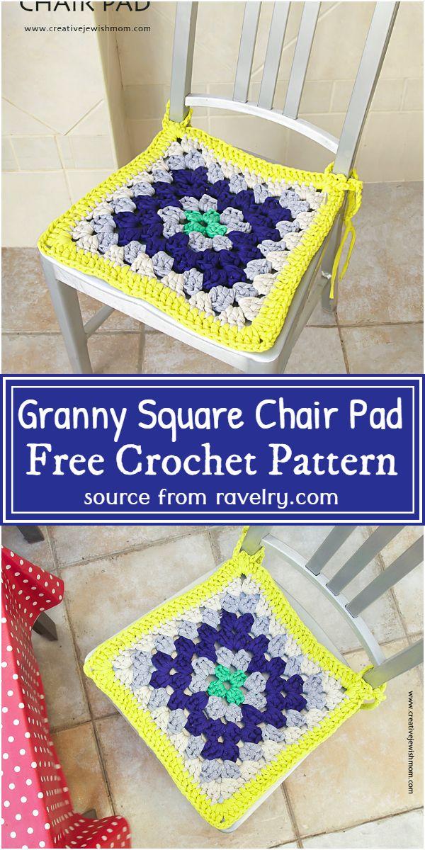 Free Crochet Granny Square Chair Pad Pattern