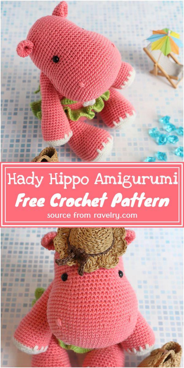 Free Crochet Hady Hippo Amigurumi Pattern