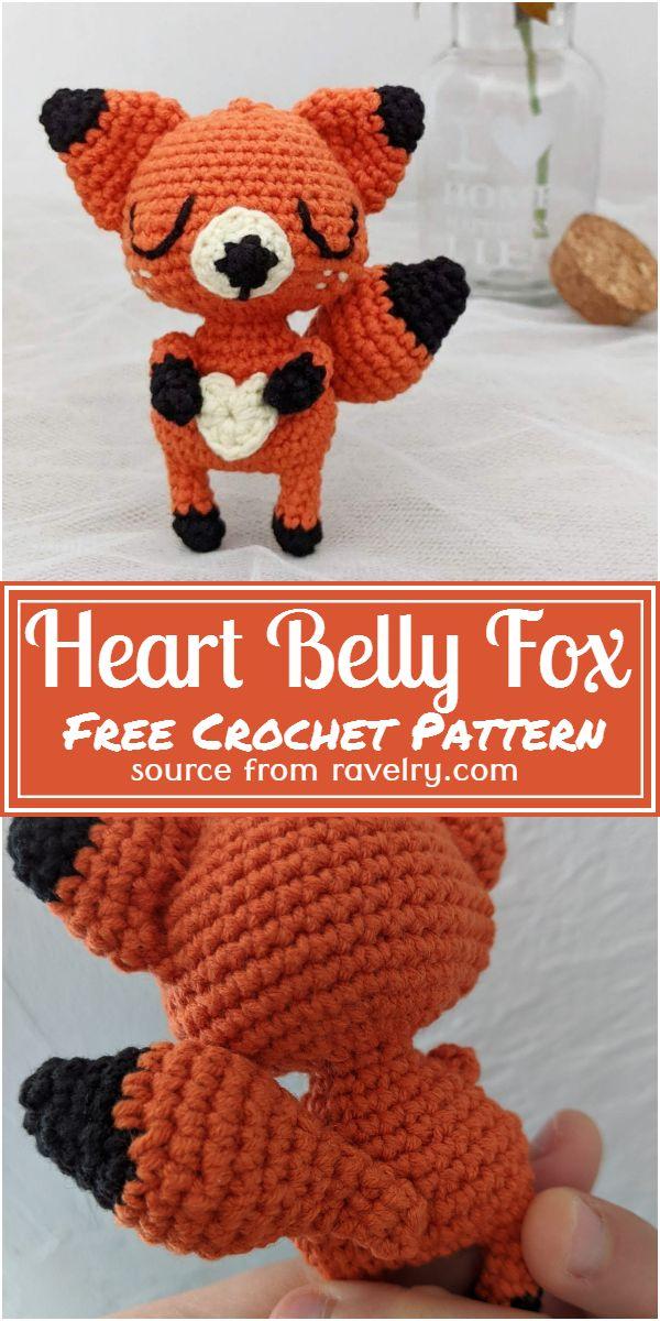 Free Crochet Heart Belly Fox Pattern