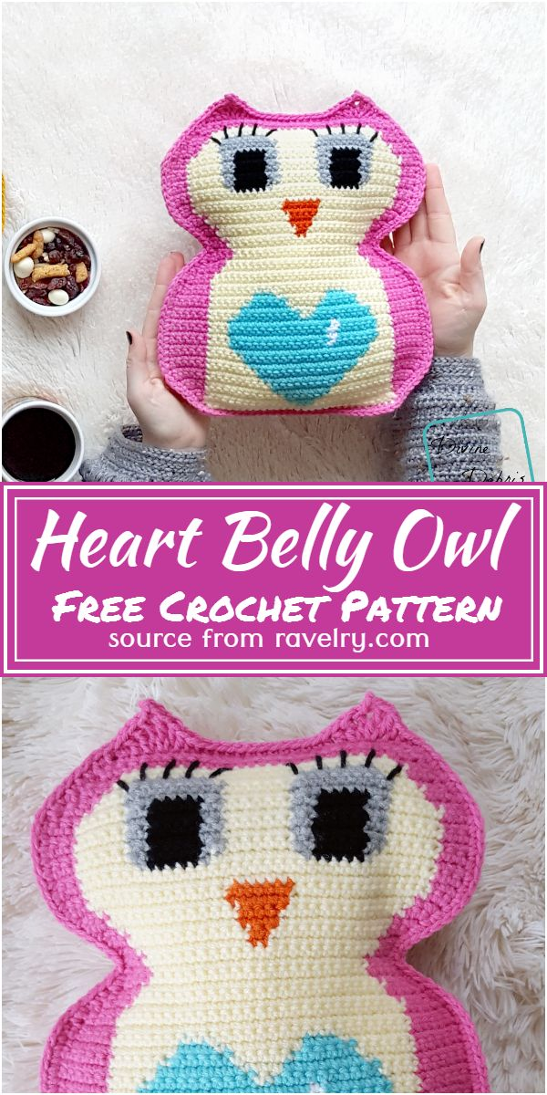 Free Crochet Heart Belly Owl Pattern