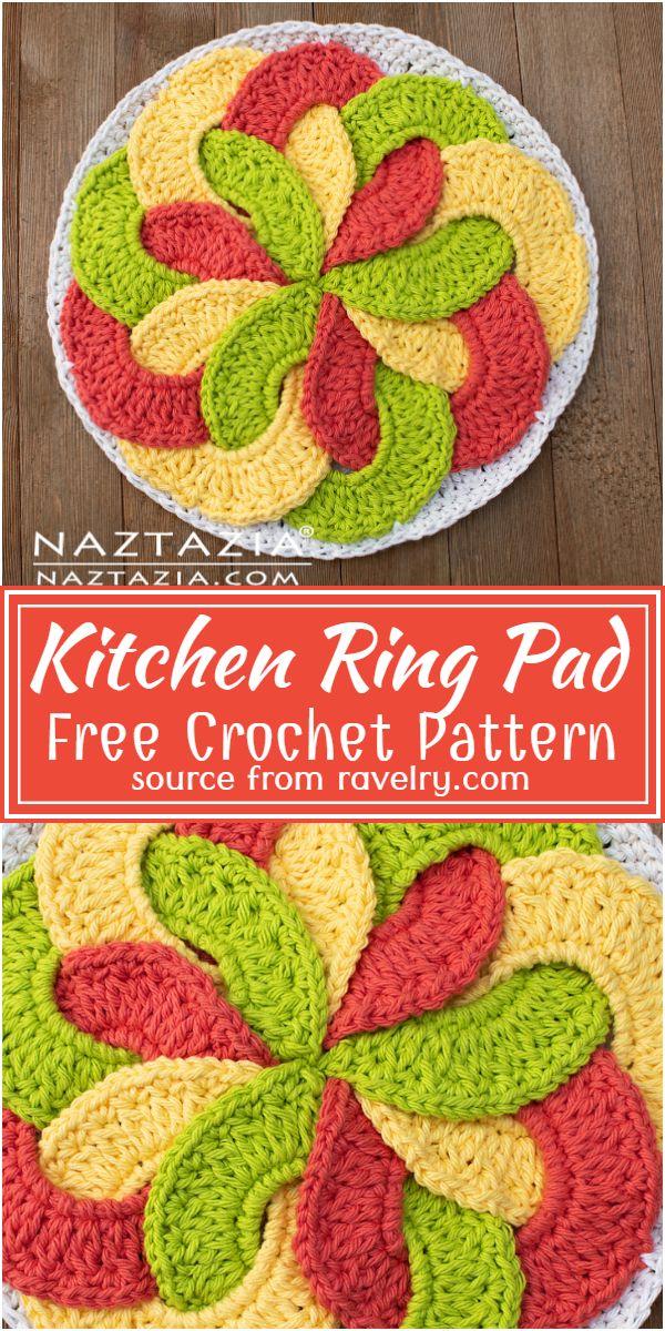 Free Crochet Kitchen Ring Pad Pattern