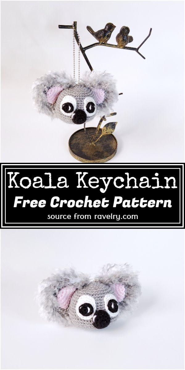 Free Crochet Koala Keychain Pattern