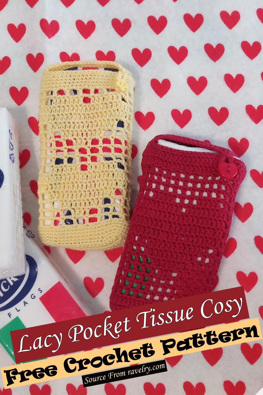 Free Crochet Lacy Pocket Tissue Cosy Pattern