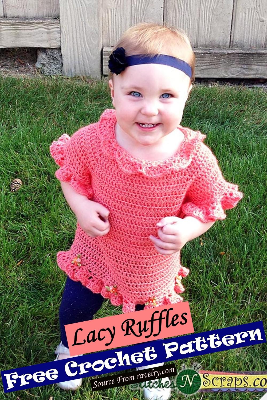 Free Crochet Lacy Ruffles Pattern