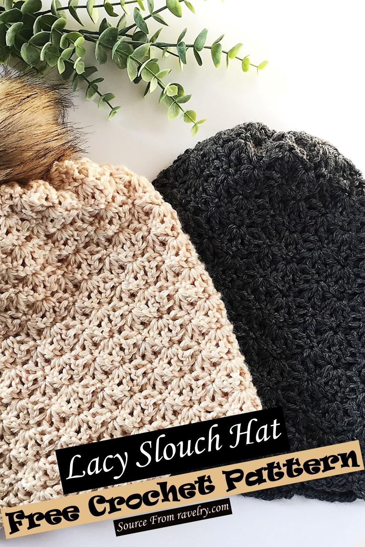 Free Crochet Lacy Slouch Hat Pattern