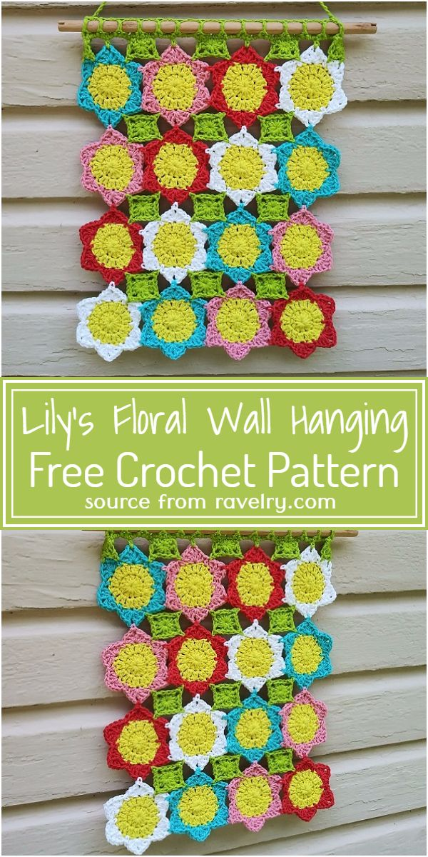 Free Crochet Lily's Floral Wall Hanging Pattern