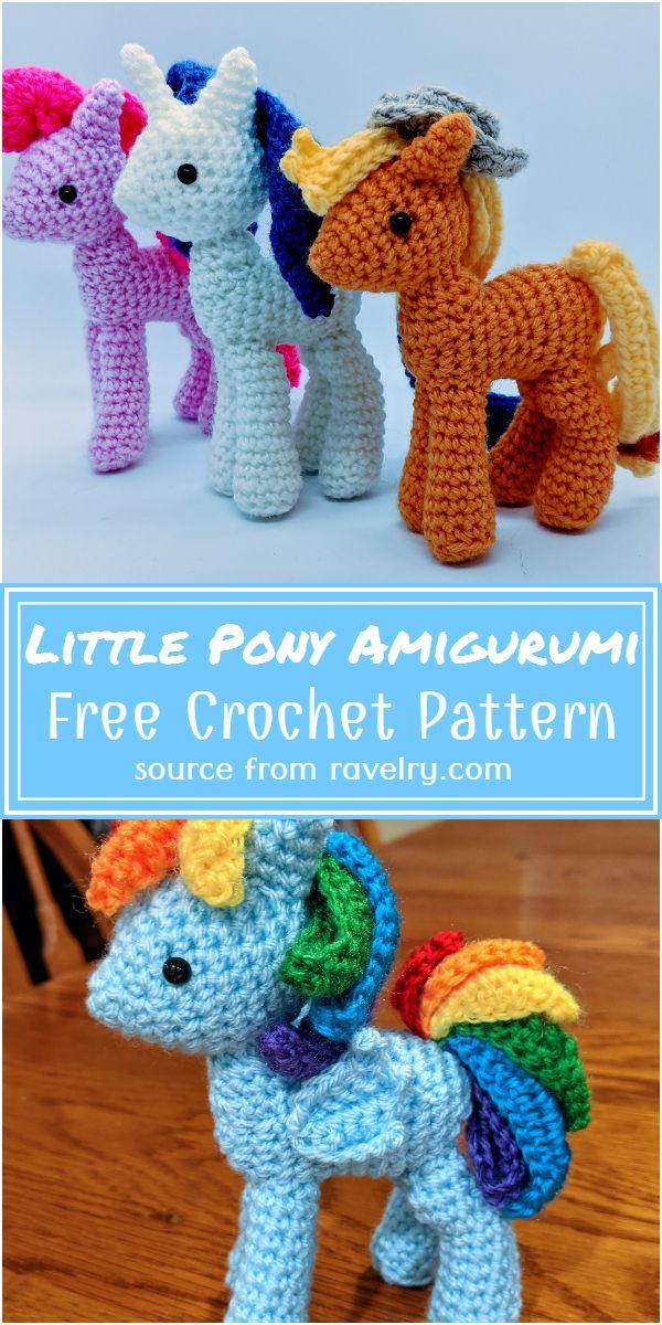 Free Crochet Little Pony Amigurumi Pattern