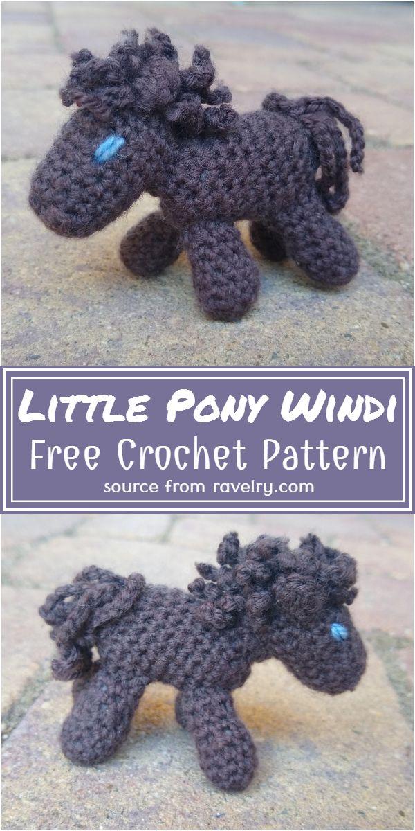 Free Crochet Little Pony Windi Pattern