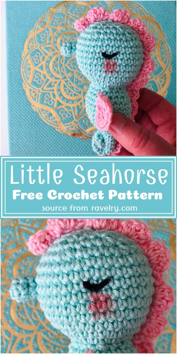 Free Crochet Little Seahorse Pattern