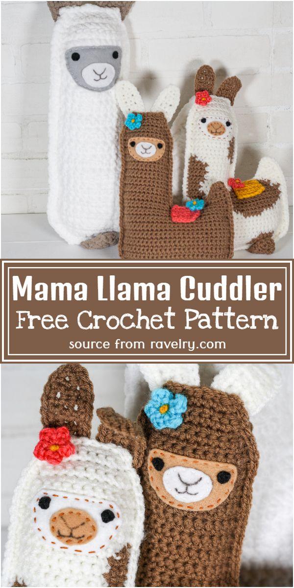 Free Crochet Mama Llama Cuddler Pattern