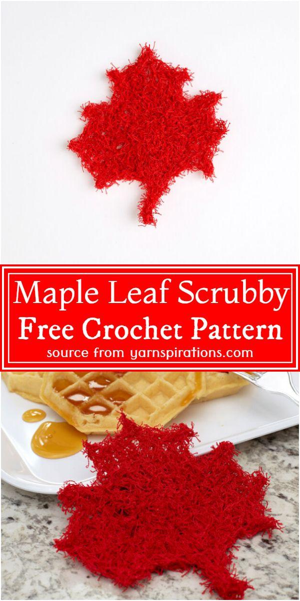 Free Leaf Scrubby Pattern