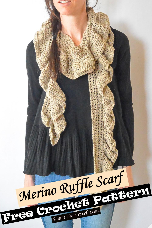 Free Crochet Merino Ruffle Scarf Pattern
