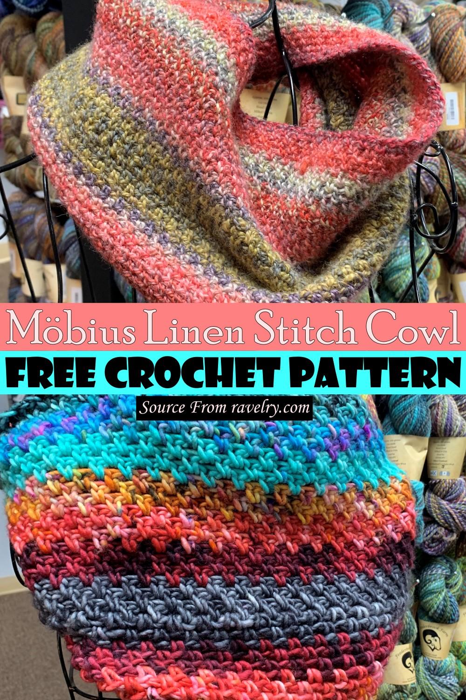Free Crochet Möbius Linen Stitch Cowl Pattern