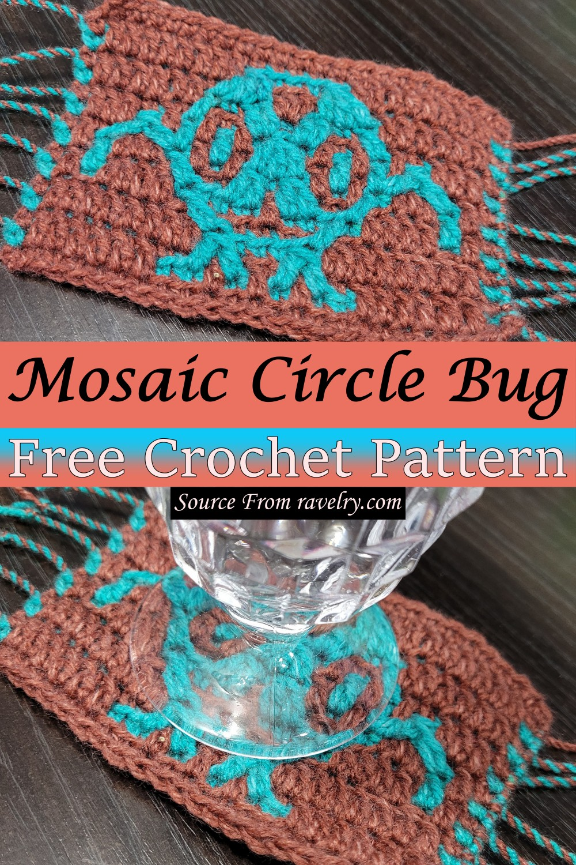 Free Crochet Mosaic Circle Bug Pattern