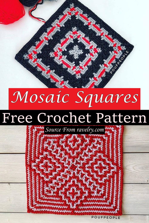 Free Crochet Mosaic Squares Pattern
