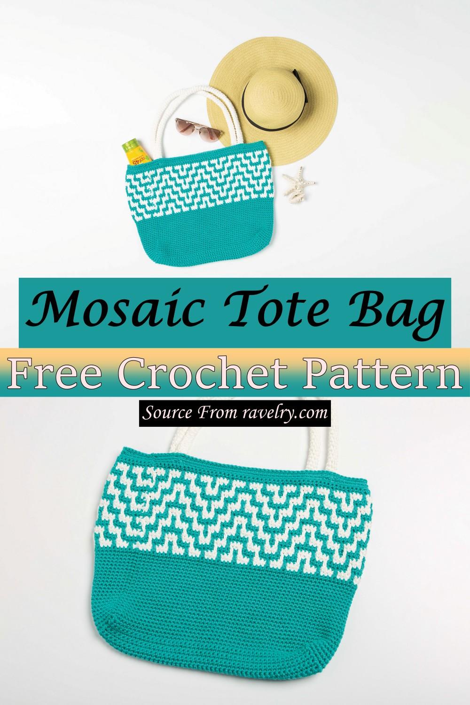 Free Crochet Mosaic Tote Bag Pattern