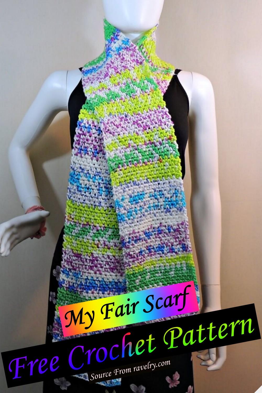 Free Crochet My Fair Scarf Pattern