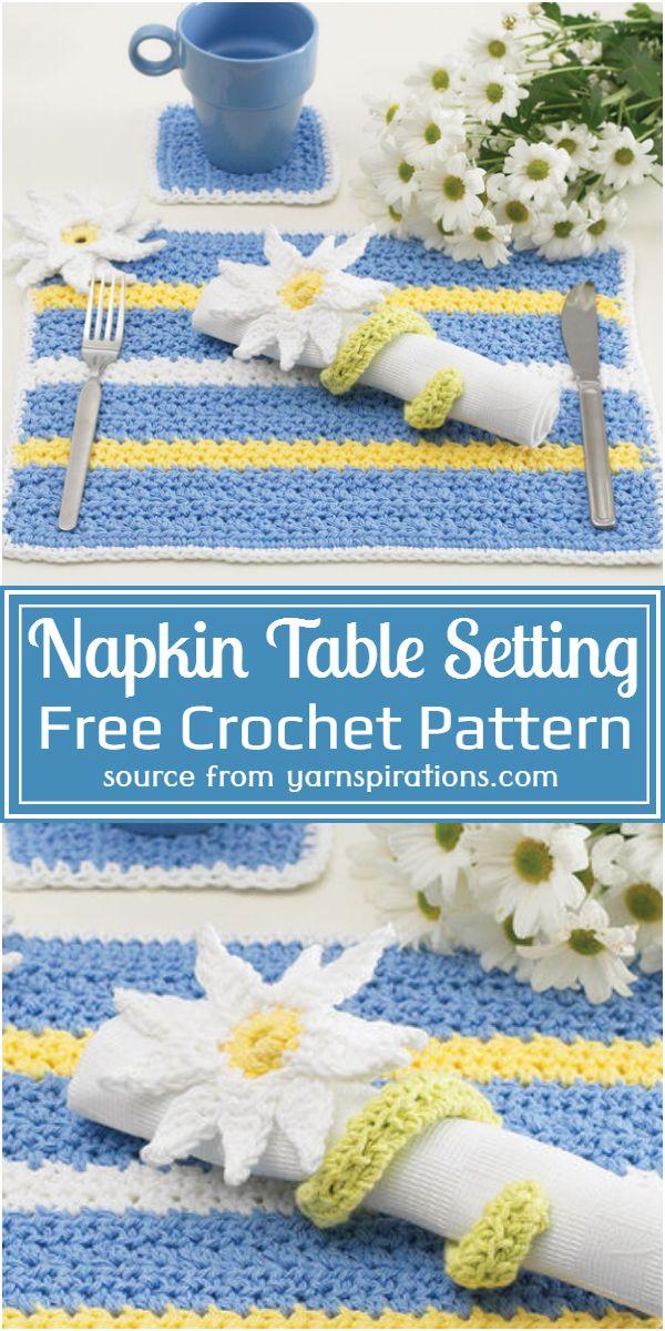 Free Crochet Napkin Table Setting Pattern