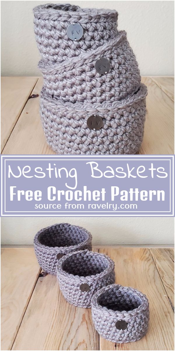 Free Crochet Nesting Baskets Pattern