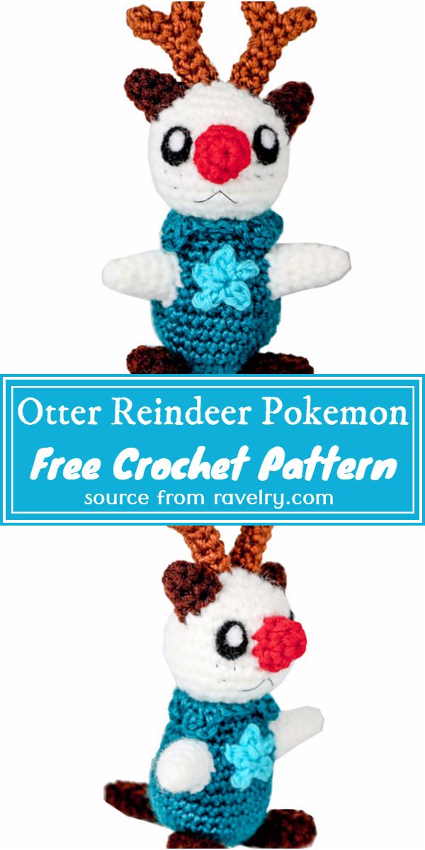 Free Crochet Otter Reindeer Pokemon Pattern