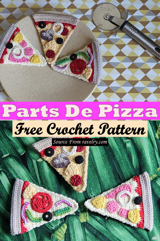 Free Crochet Parts De Pizza Pattern