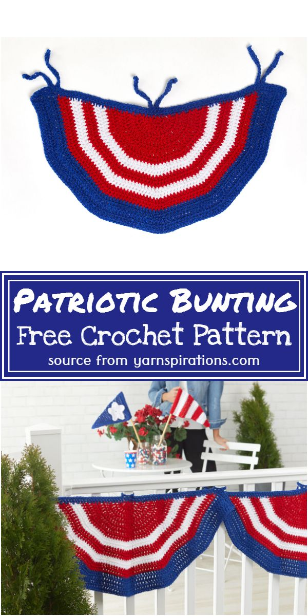 Free Crochet Patriotic Bunting Pattern