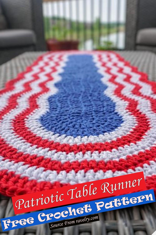 Free Crochet Patriotic Table Runner Pattern