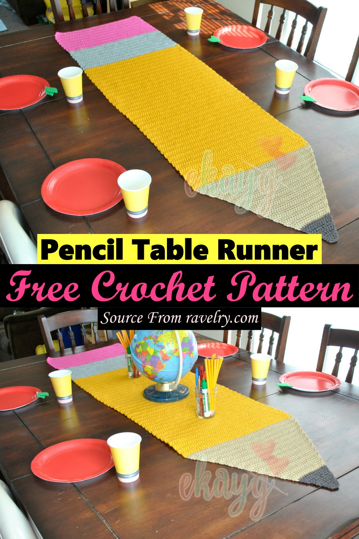 Free Crochet Pencil Table Runner Pattern
