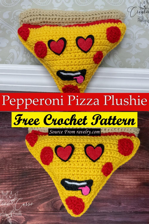 Free Crochet Pepperoni Pizza Plushie Pattern