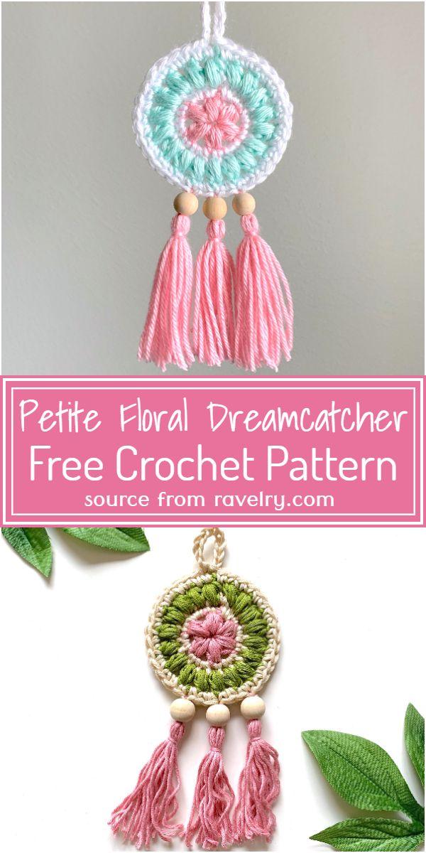 Free Crochet Petite Floral Dreamcatcher Pattern