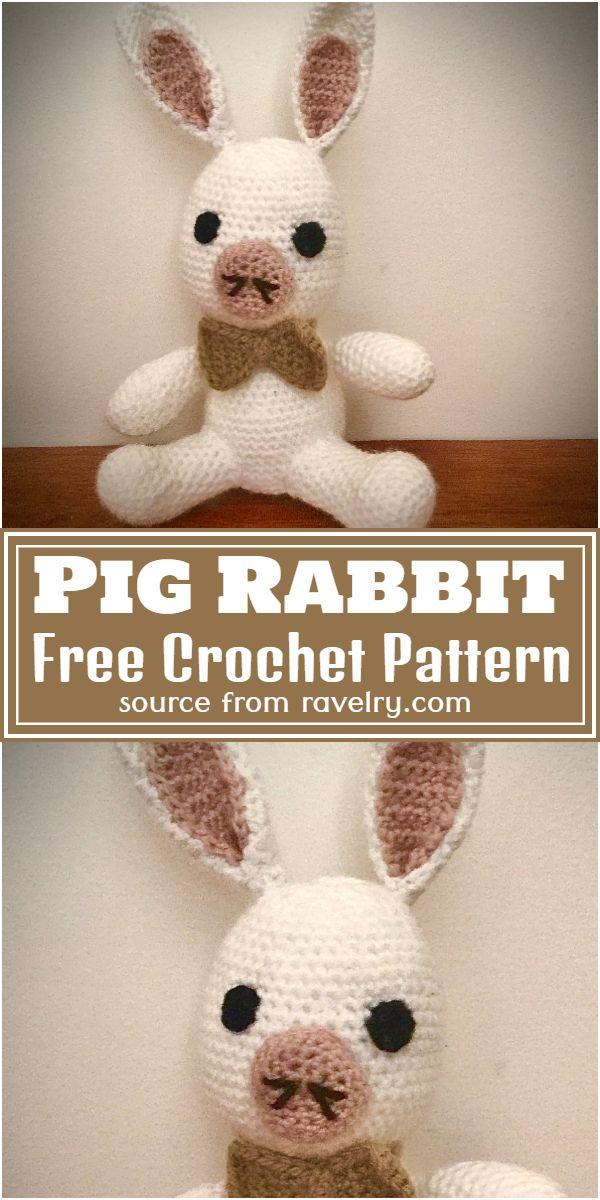 Free Crochet Pig Rabbit Pattern