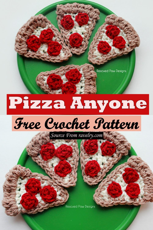 Free Crochet Pizza Anyone Pattern