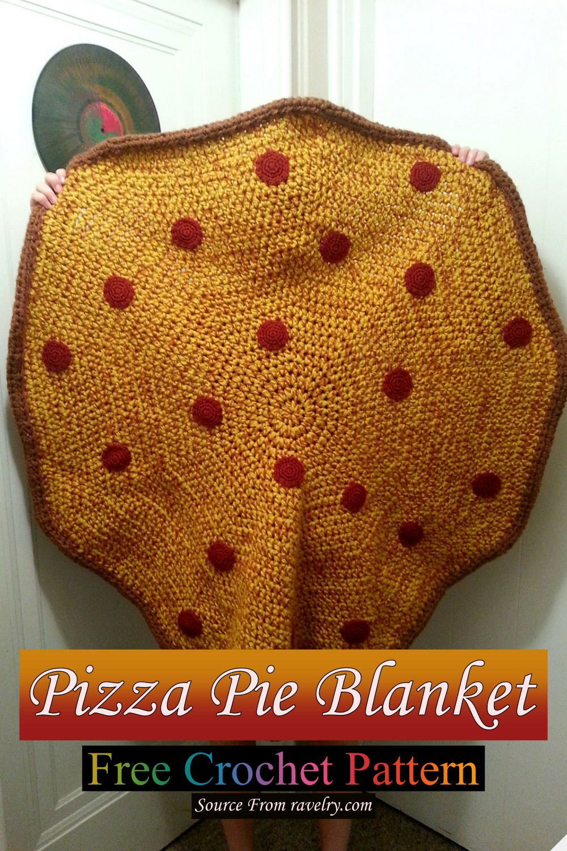 Free Crochet Pizza Pie Blanket Pattern
