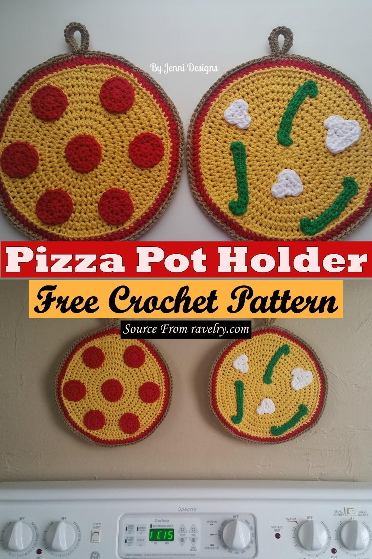 Free Crochet Pizza Pot Holder Pattern